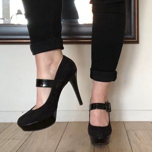 Nine West Platform Black Stiletto Size 8.5